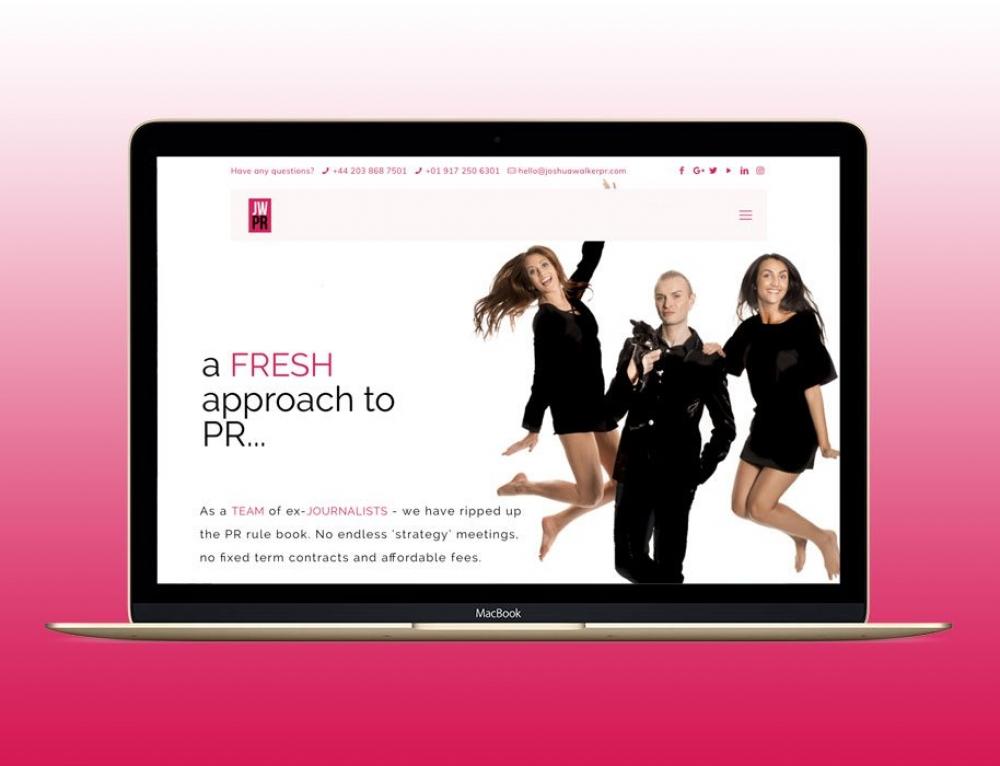 New Website For London & New York PR Agency